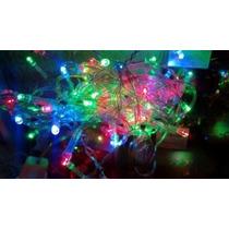 100 Luces Led Navidad Colores Y Blancas, No Se Queman Nunca!