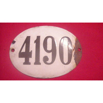 Chapa Enlozada Con Numeracion Antigua Ideal Decoracion Ver..