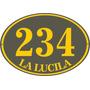 Fábrica Carteles Calle Número Domicilio Oval 35x25cm Nu-3f