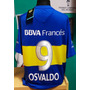 Estampado Boca Juniors Titular 2016 Oficial Nombre De Regalo
