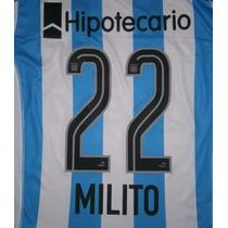 22 Milito-15 Videla Racing Club 2015 Original Topperutilería