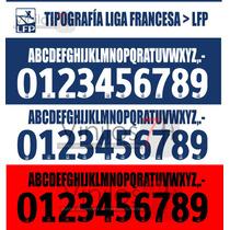 Números Tipografía Liga Francesa Lfp Estampado