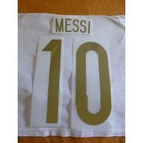 Estampado Original 10 Messi Dorado