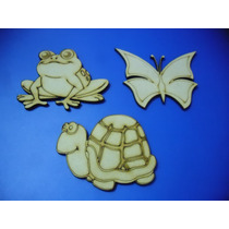 Figuras Animales En Fibrofacil - Mdf 10 X $80,00.-