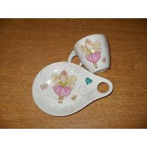 Plato Y Taza De Porcelana (souvenirs)