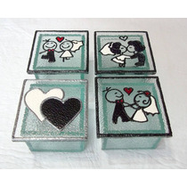 Souvenirs En Vidrio Pintado - Cajas Mini