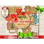 14 Png Tags Tarjetitas Navidad Vintage Decoupage Scrapbook