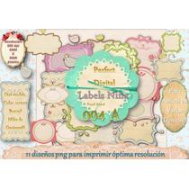 10 Labels Viñetas Etiquetas Shabby Chic Vintage Candybar 2x1