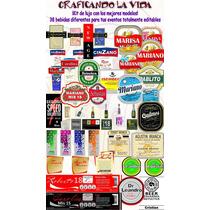 Kit Imprimible Etiquetas De Bebidas Personalizadas Souvenir