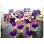 Centro De Mesa Flor Origami Topiario Cumpleaños Comunion Etc