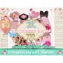 Kit Imprimible 19 Png Elementos Rosados Románticos Scrapbook