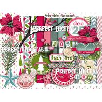14 Fondos Y 24 Imágenes Navideñas Scrapbook Imprimir Diseñar