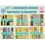 1 Kit Imprimible X 6 Sets Servilletas Decoupage Dorado Negro