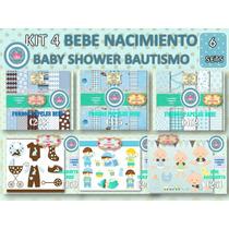 1 Kit Imprimible X 6 Sets Bebe Candybar Nacimiento Diseño