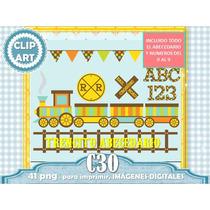 Set 41 Diseños Png Trencito Infantil Cumple 1er Año Niño Abc