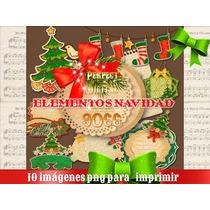 10 Imagenes Png Navidad Navideñas Sublimación Estampados 2x1