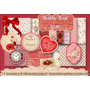Kit Imprimible Fondos Shabby Chic Decoradores Rojo Vintage