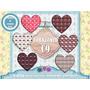 Set Diseño 6 Png Corazones Amor Romantico Clipart Decoupage