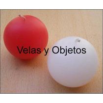 Vela Esfera 4cm Artesanales Souvenir Centro De Mesa Bautismo