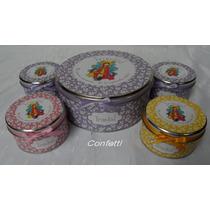 Set 20 Latitas Souvenir Y Lata Central Diseño Personalizado
