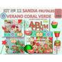 1 Kit Imprimible X 4 Sets Sandia Fruta Decoupage Servilletas