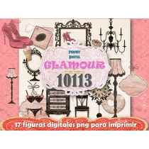 Set Diseño 18 Png Jpeg Glamour Vajilla Porcelana 15 Años 3x1