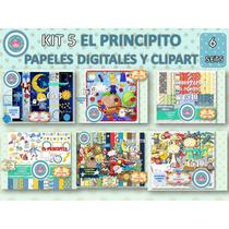 1 Kit Imprimible X 6 Set El Principito Decoracio Cuarto Niño