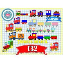 Set 10 Diseños Png Trencito Infantil 1er Año Cumpleaños 3x1
