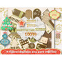 Kit Imprimible 11 Tags Arbolitos Navidad Scrapbook Decoupage