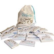 *50 Chocolates Personalizados De 8grs En Bolsita De Tela*