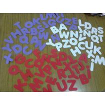 Letras En Goma Eva Abecedario Completo Figuras