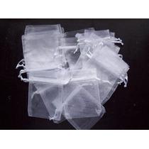 Souvenirs 20 Bolsitas ,bolsas De Organza Blanca