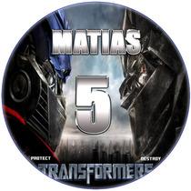 Kit Imprimible Transformers Etiquetas Golosinas