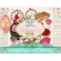 Kit Imprimible 21 Png Frutillas Rojos Té Scrapbook Decoupage