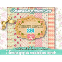 7 Servilletas Papel Digital Shabby Chic Sublimaciòn Nenas 2x