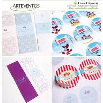 Etiquetas Personalizadas Para Golosinas Candy Bar Decoración