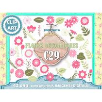 Set 42 Diseños Png Flores Rosas Deco Cuarto Niña Vidrieras