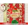 7 Fondos Jpeg Navidad Vintage Servilletas Imprimibles Scrap