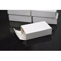 100 Cajas De Cartulina Blancas 6 X 4 X 1,5 Cm