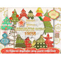 Kit Imprimible 12 Png Arbolitos Navidad Scrapbook Decoupage