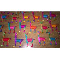Llamitas Llamas De Lana De Llama Multicolor - Souvenirs Deco