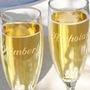 Una Copa Grabada Tu Nombre Logo O Diseño Champagne Vino Agua