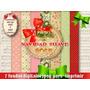7 Jpeg Motivos Navidad Tarjetas Láminas Sublimación Estampad