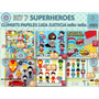 1 Kit Imprimible X 6 Sets Superheroes Decoracion Cuarto Niño