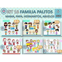 1 Kit Imprimible X 6 Sets Dia Mujer Madre Padre Niño Abuelo