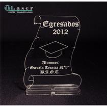 Souvenir Egresado En Acrilico Diploma Grabado Personalizado