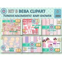 1 Kit Imprimible X 6 Sets Beba Baby Shower Bebe Decoupage