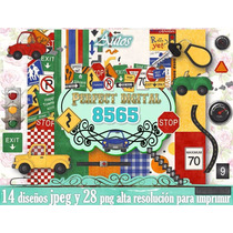 42 Diseños Autitos Niño Decoraciòn Scrapbook Candybar 2x1