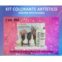 Maquillaje Artistico Kit Colorantes 6 Tonos + Crema Base