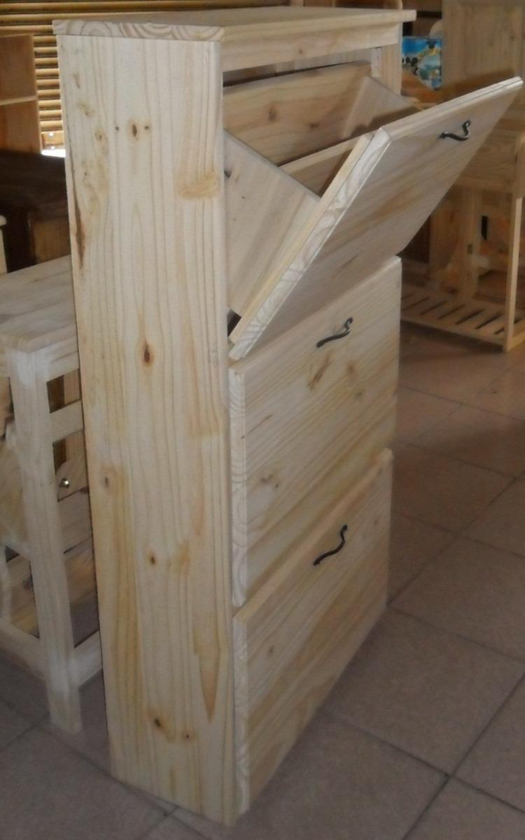 Organizador zapatos botinero zapatero p caballeros pino for Zapateros de madera de pino